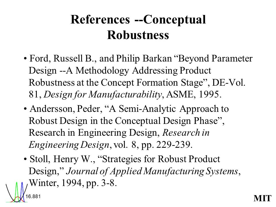 References --Conceptual Robustness
