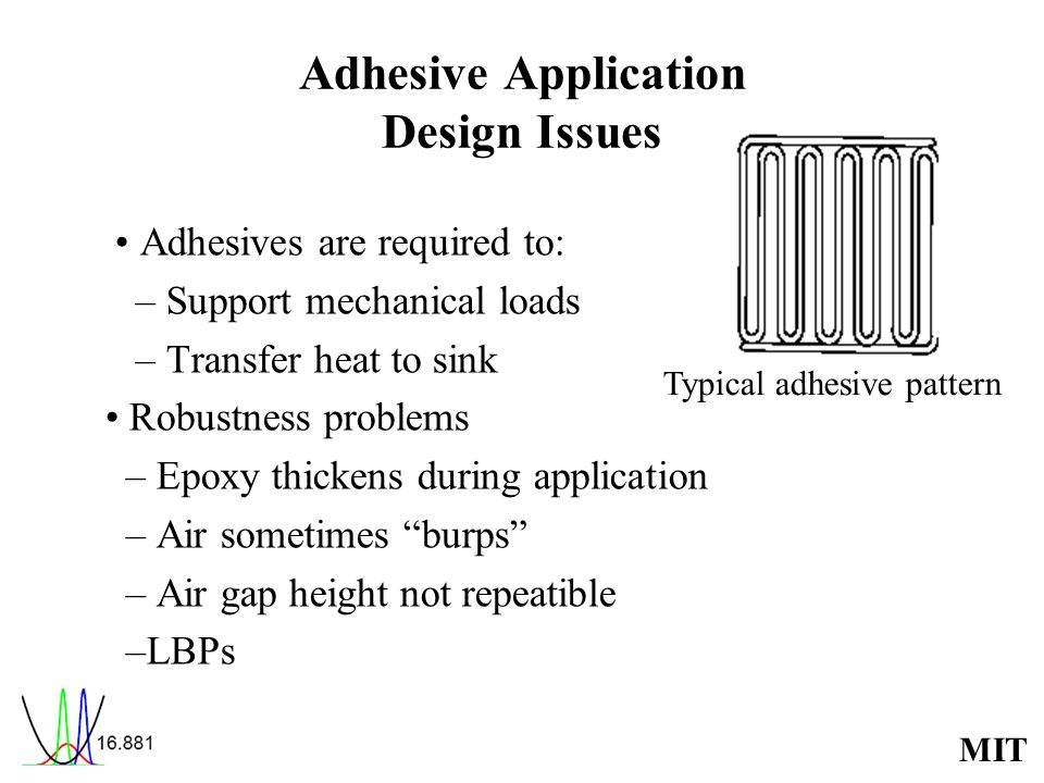 Adhesive Application Design Issues
