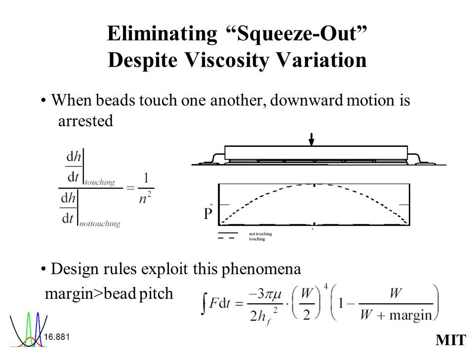 Eliminating Squeeze-Out Despite Viscosity Variation