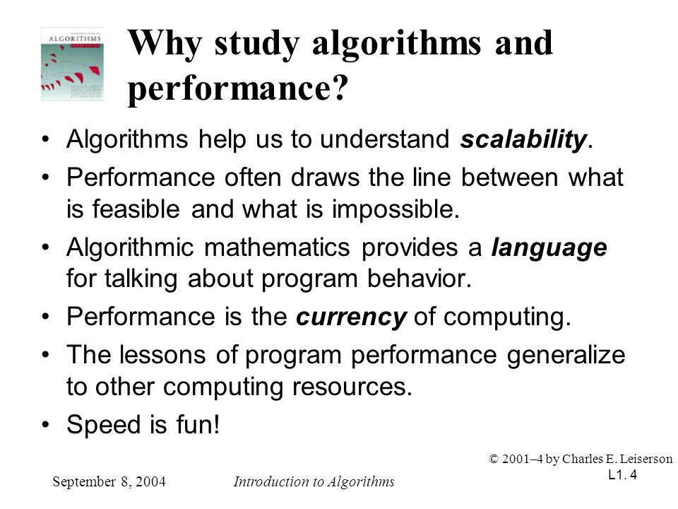 Why study algorithms and performance