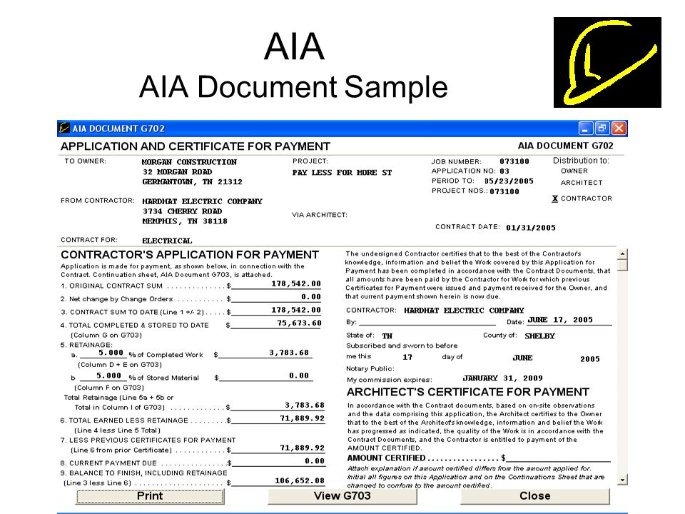 aia sample documents - Maddenrecall