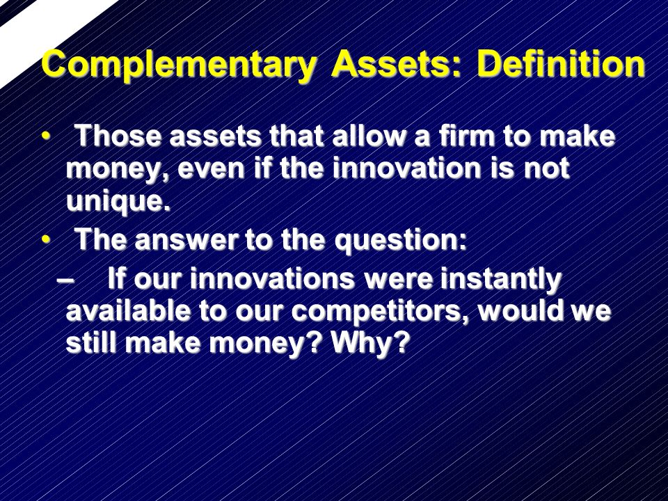 Complementary Assets: Definition