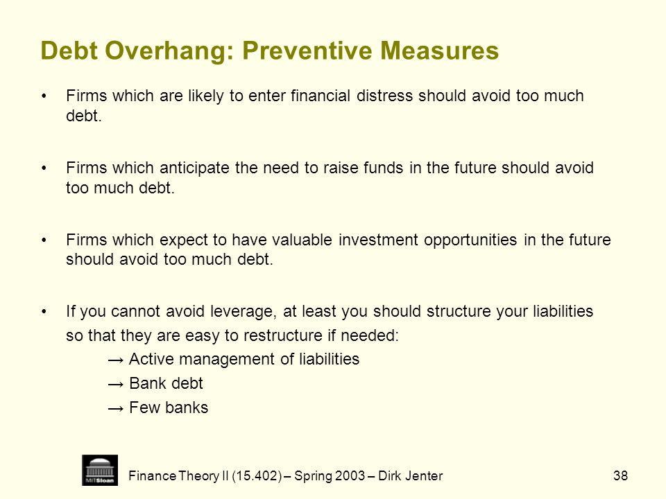 Debt Overhang: Preventive Measures