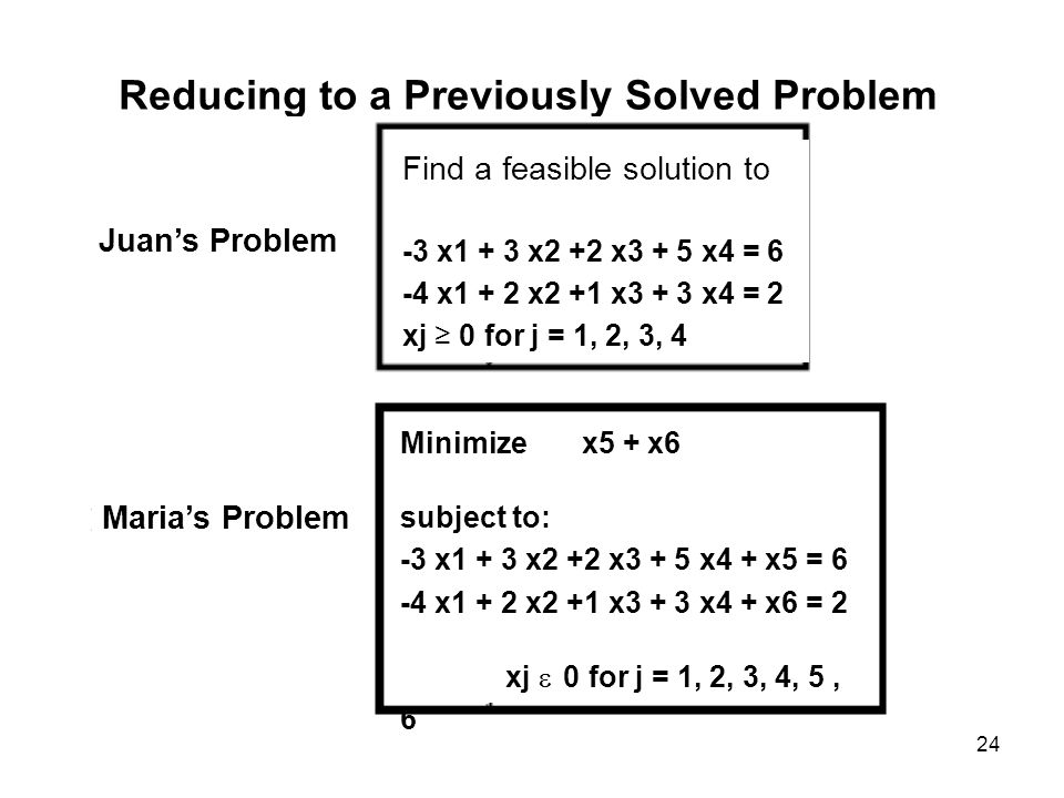Reducing to a Previously Solved Problem