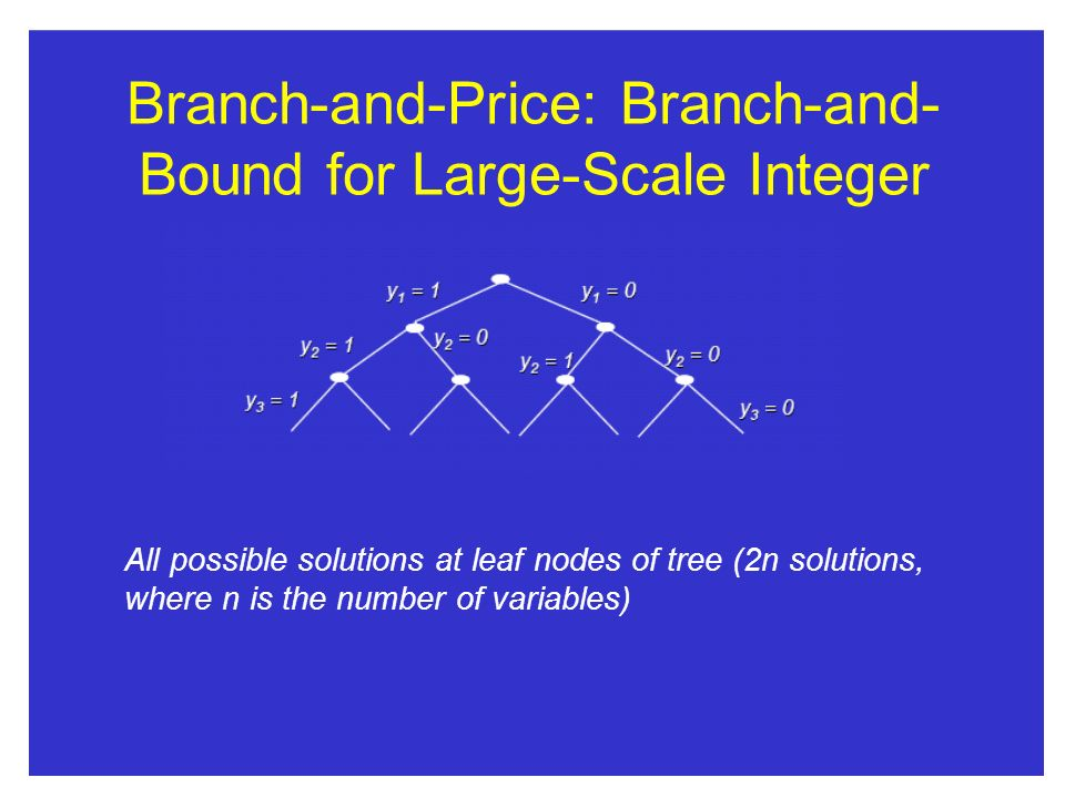 Branch-and-Price: Branch-and- Bound for Large-Scale Integer Programs