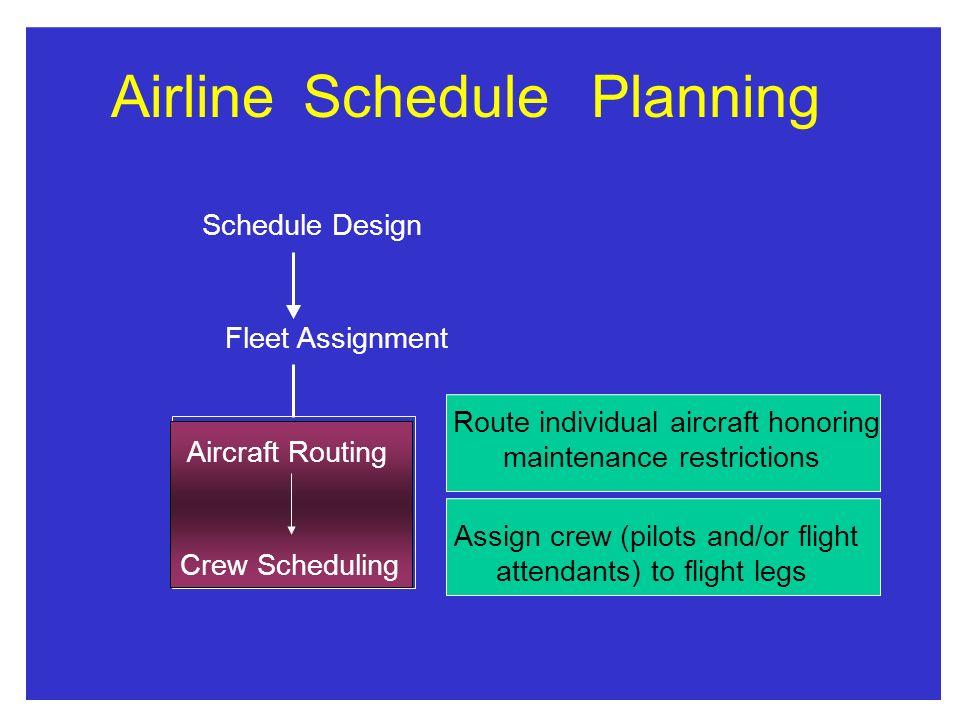 Airline Schedule Planning
