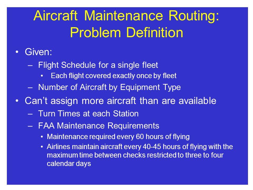 Aircraft Maintenance Routing: Problem Definition