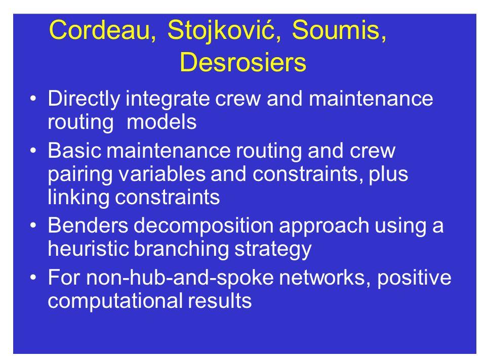 Cordeau, Stojković, Soumis, Desrosiers