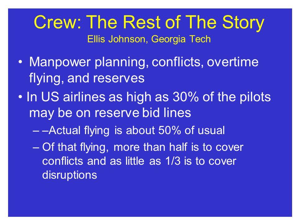 Crew: The Rest of The Story Ellis Johnson, Georgia Tech