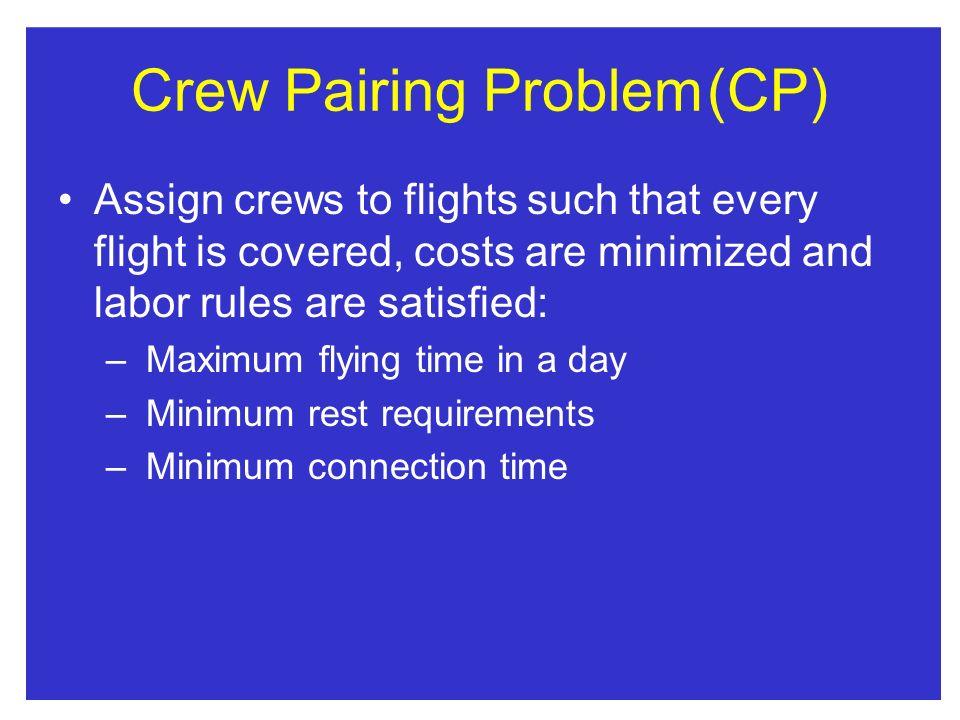 Crew Pairing Problem (CP)