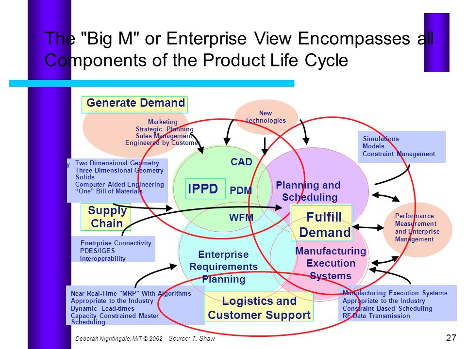 Manufacturing Execution Systems Enterprise Requirements Planning
