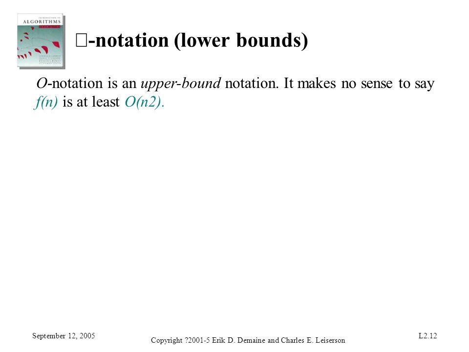 Ω-notation (lower bounds)