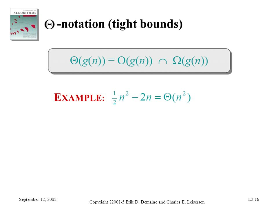 -notation (tight bounds)