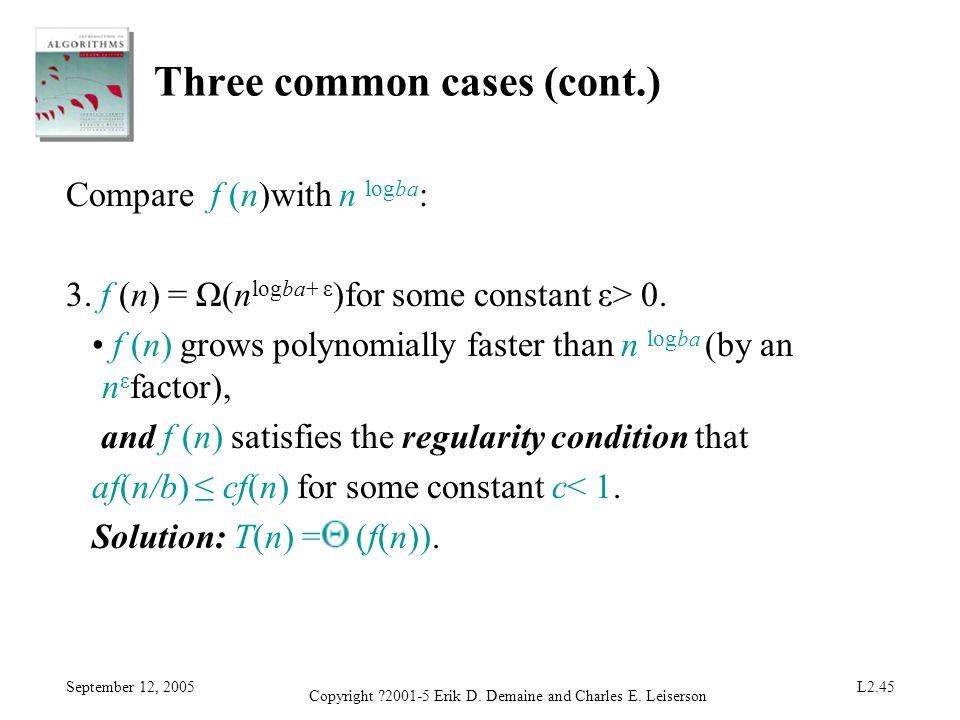 Three common cases (cont.)