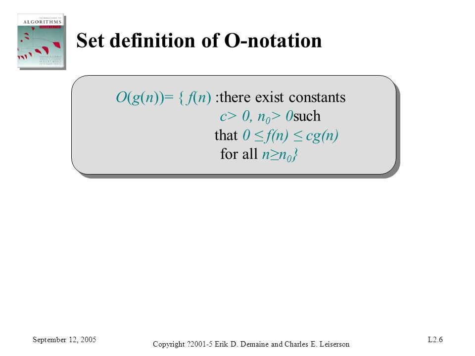 Set definition of O-notation