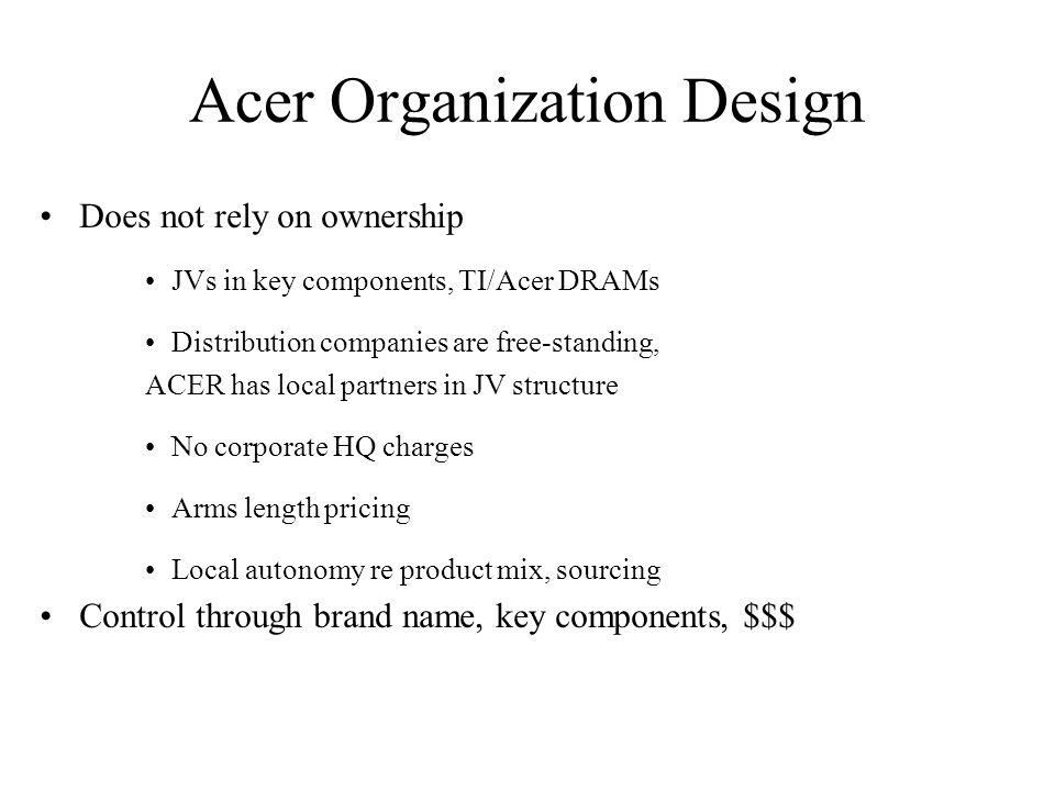 Acer Organization Design