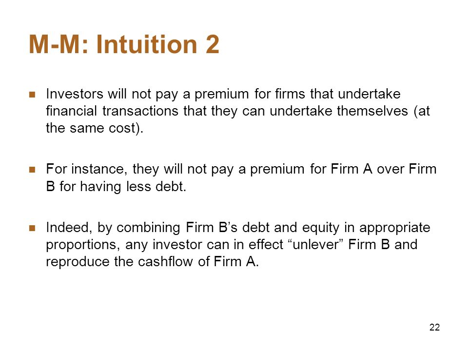 M-M: Intuition 2