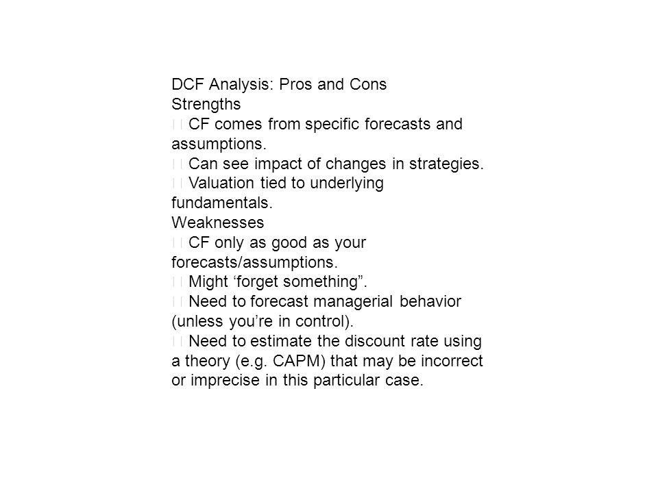 DCF Analysis: Pros and Cons