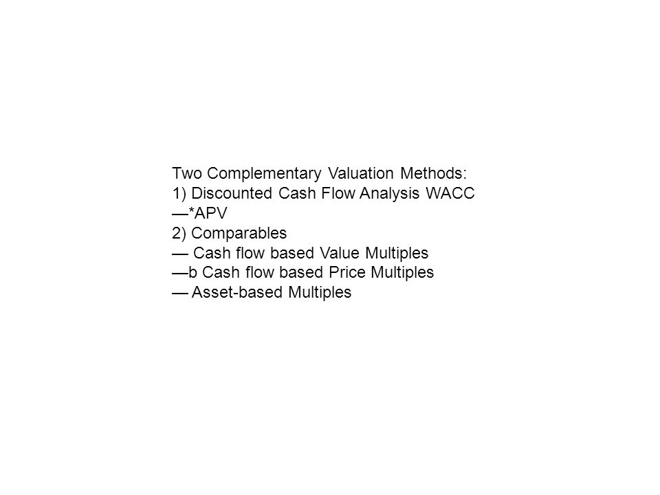 Two Complementary Valuation Methods: