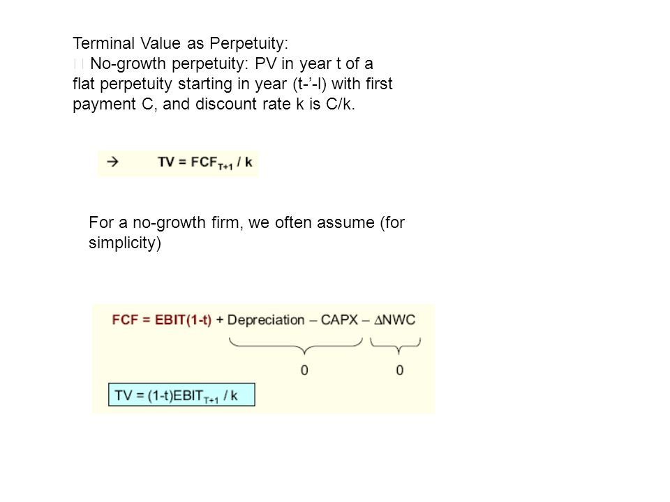 Terminal Value as Perpetuity: