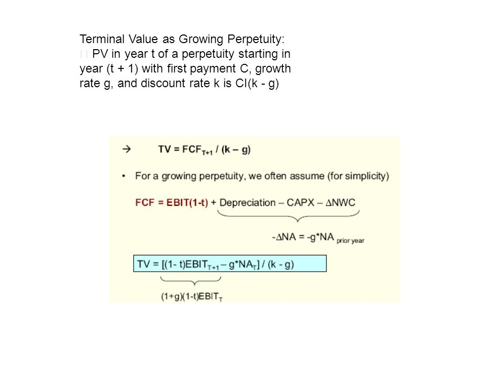 Terminal Value as Growing Perpetuity: