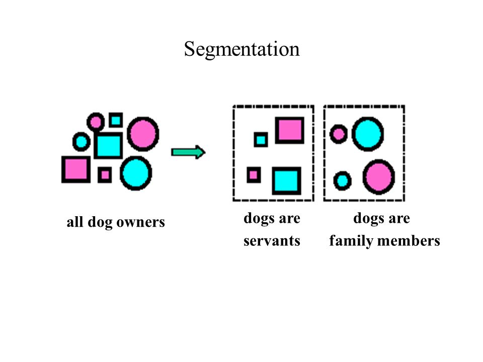 Segmentation all dog owners dogs are dogs are servants family members