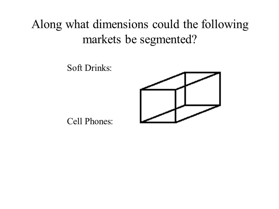 Along what dimensions could the following markets be segmented