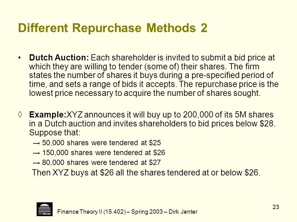 Different Repurchase Methods 2