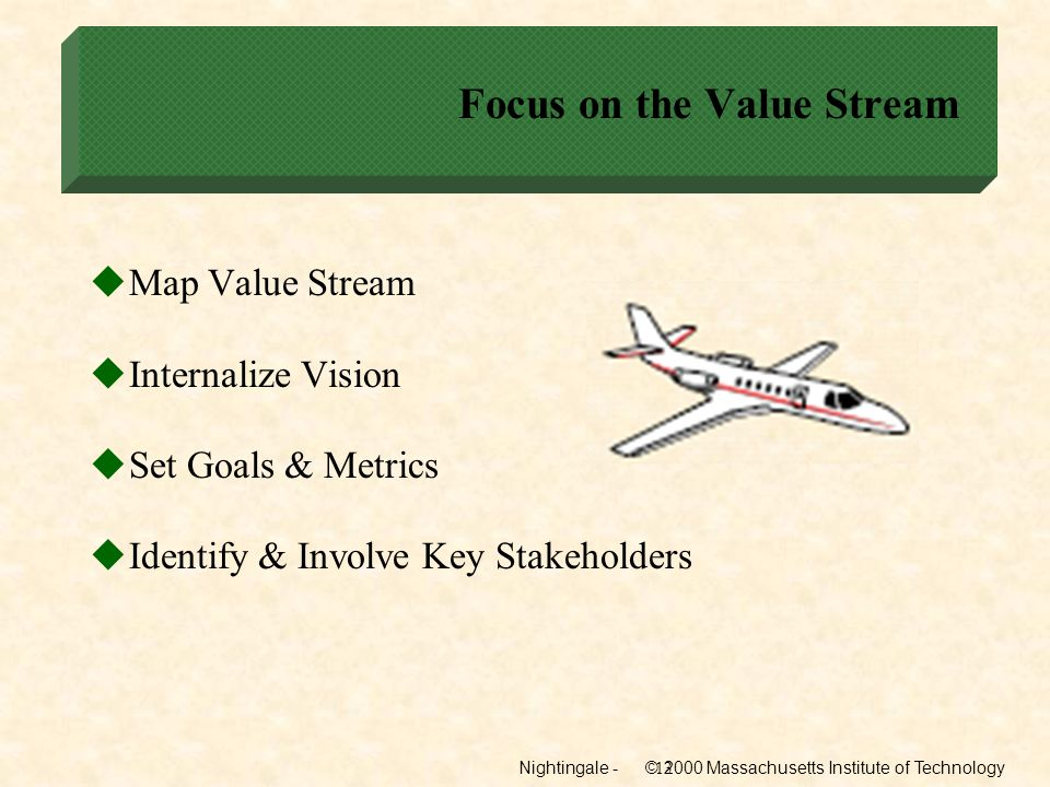 Focus on the Value Stream