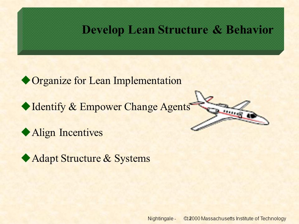 Develop Lean Structure & Behavior