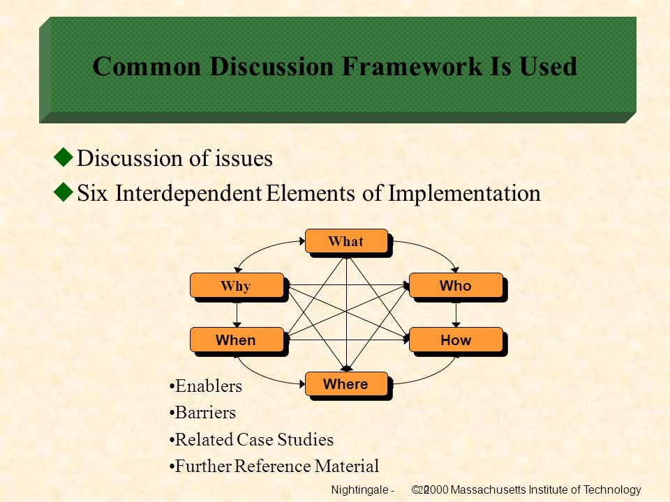 Common Discussion Framework Is Used