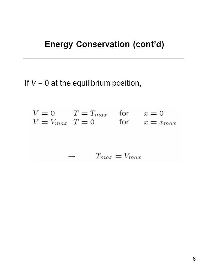 Energy Conservation (cont'd)
