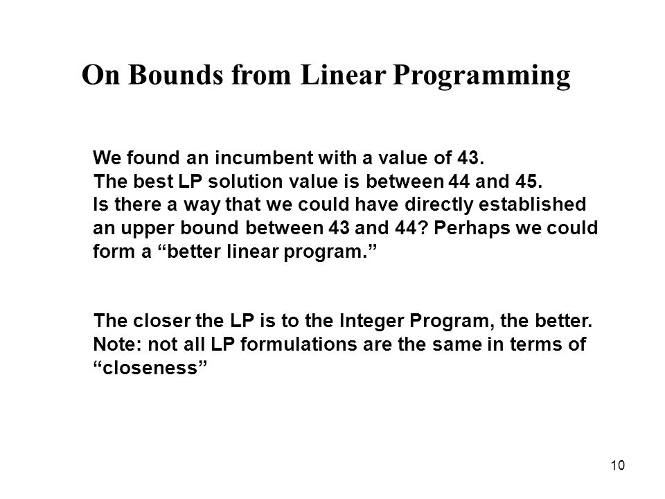 On Bounds from Linear Programming