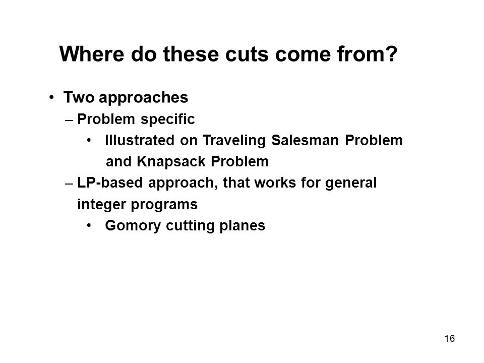 Where do these cuts come from