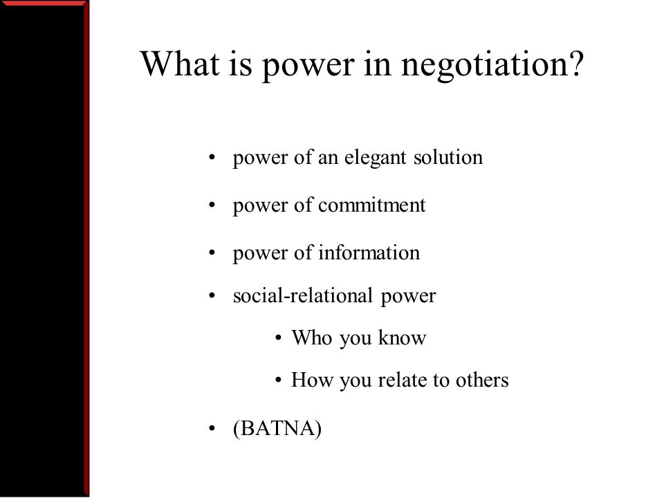 What is power in negotiation