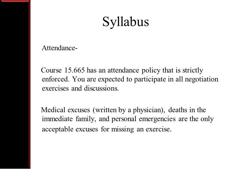 Syllabus Attendance-