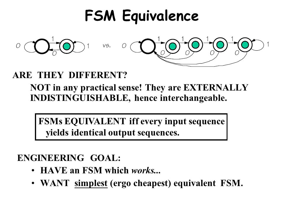 FSM Equivalence ARE THEY DIFFERENT