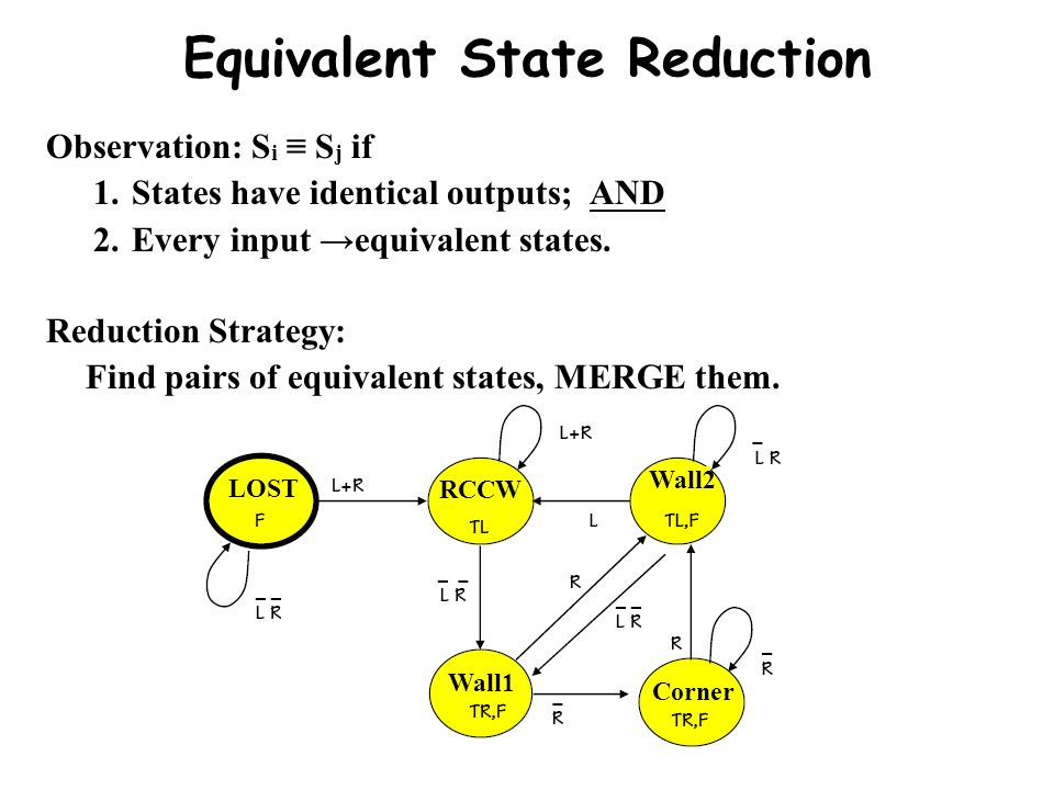 Equivalent State Reduction
