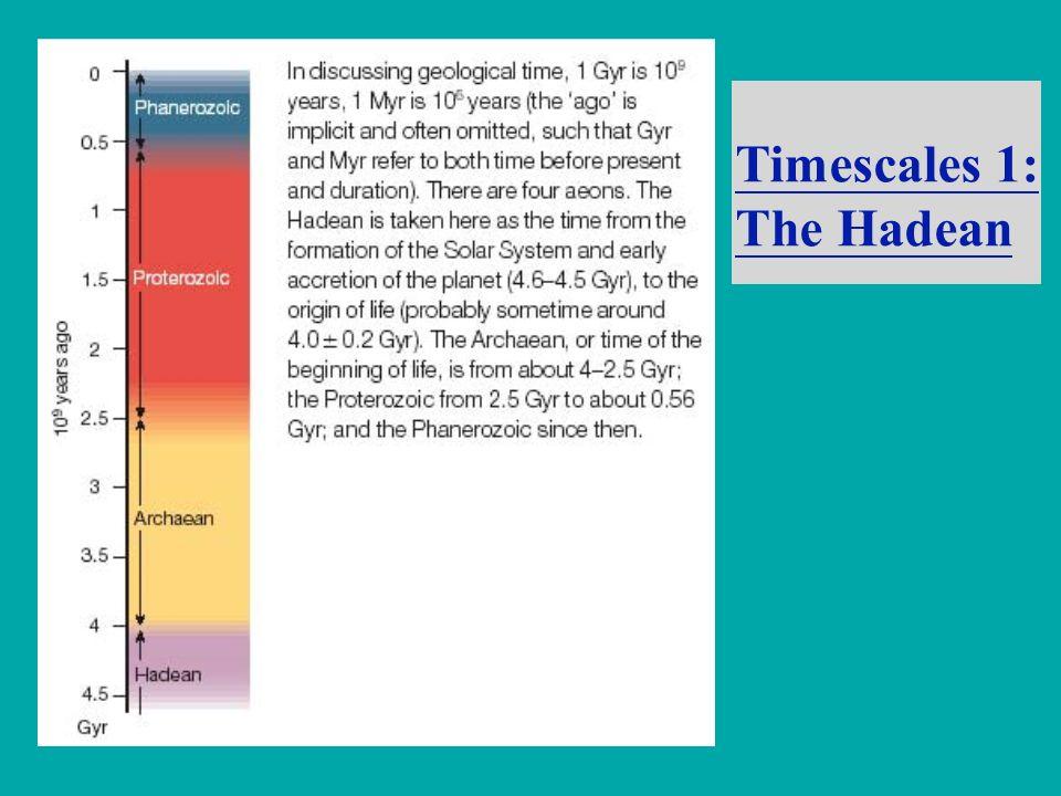 Timescales 1: The Hadean