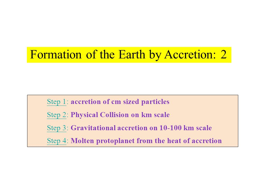 Formation of the Earth by Accretion: 2