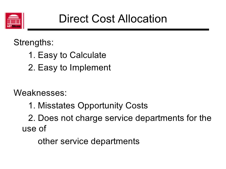 Direct Cost Allocation