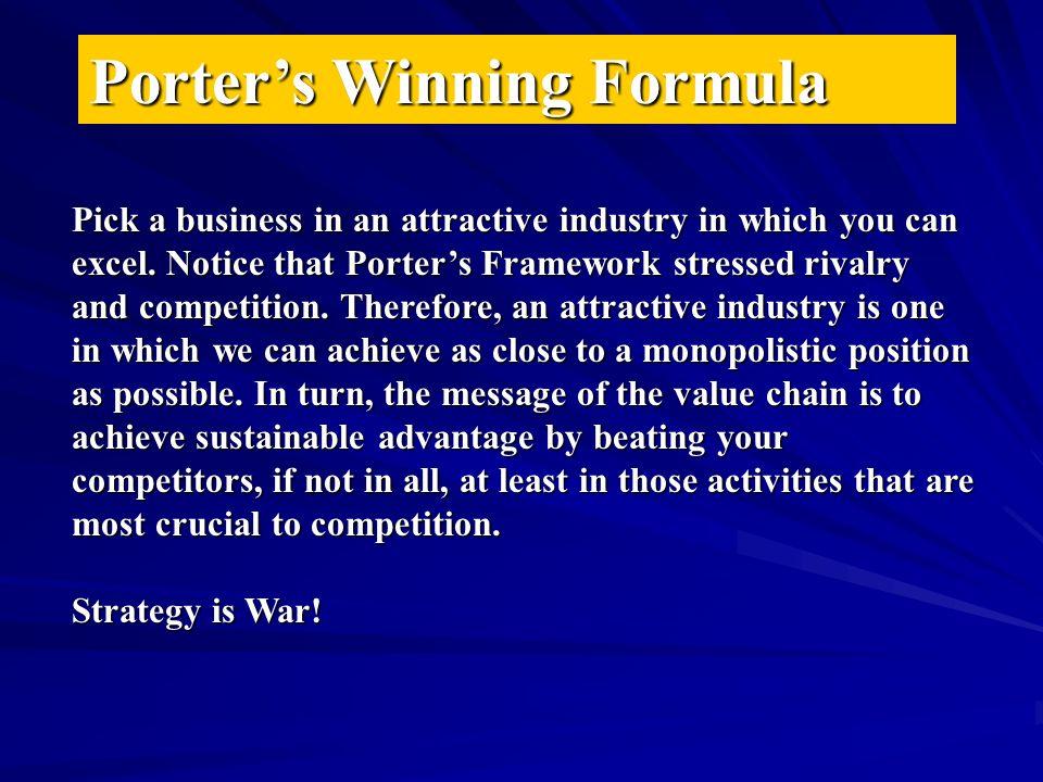 Porter's Winning Formula