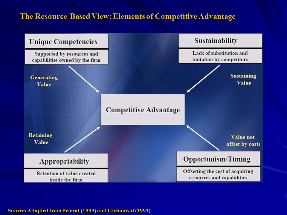 The Resource-Based View: Elements of Competitive Advantage