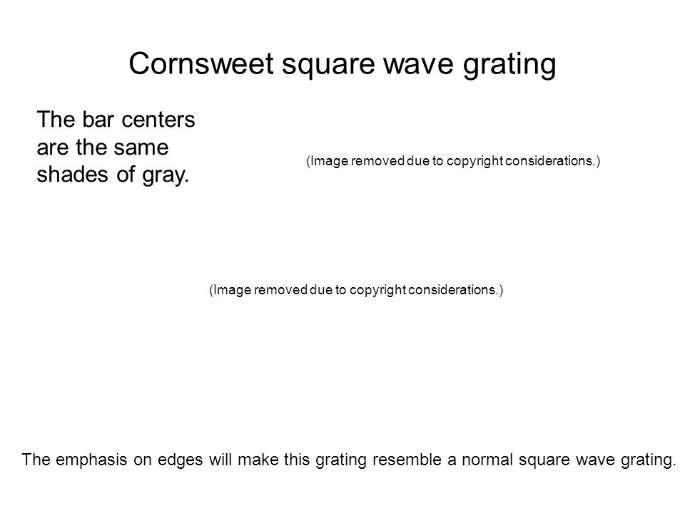 Cornsweet square wave grating