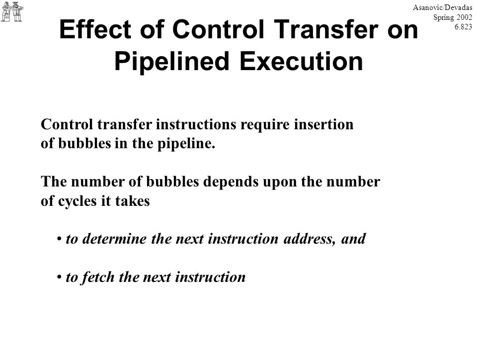 Effect of Control Transfer on Pipelined Execution