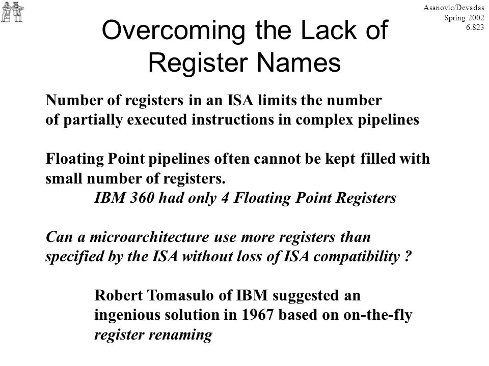 Overcoming the Lack of Register Names
