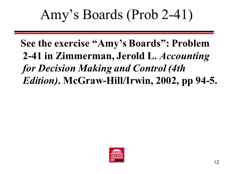 Amy's Boards (Prob 2-41)