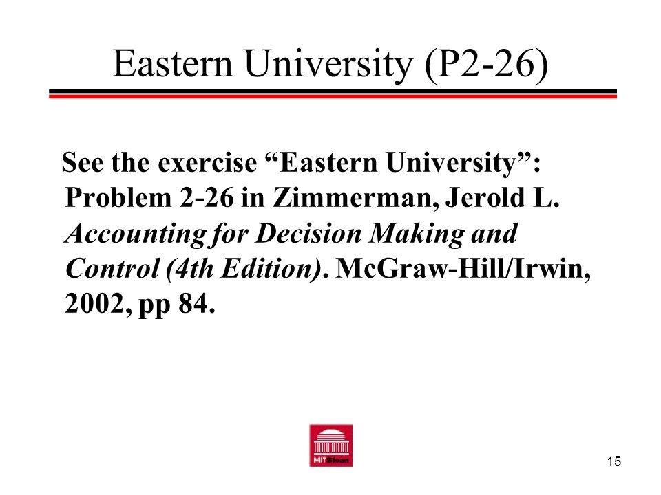 Eastern University (P2-26)