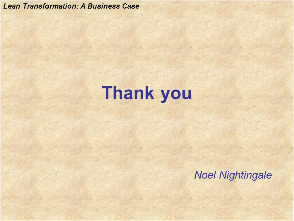Thank you Noel Nightingale