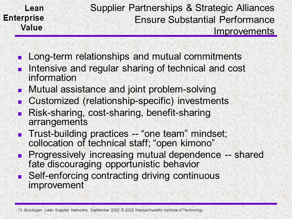 Long-term relationships and mutual commitments